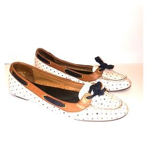 SPERRY top slider Chandler flats ivory w/ bow